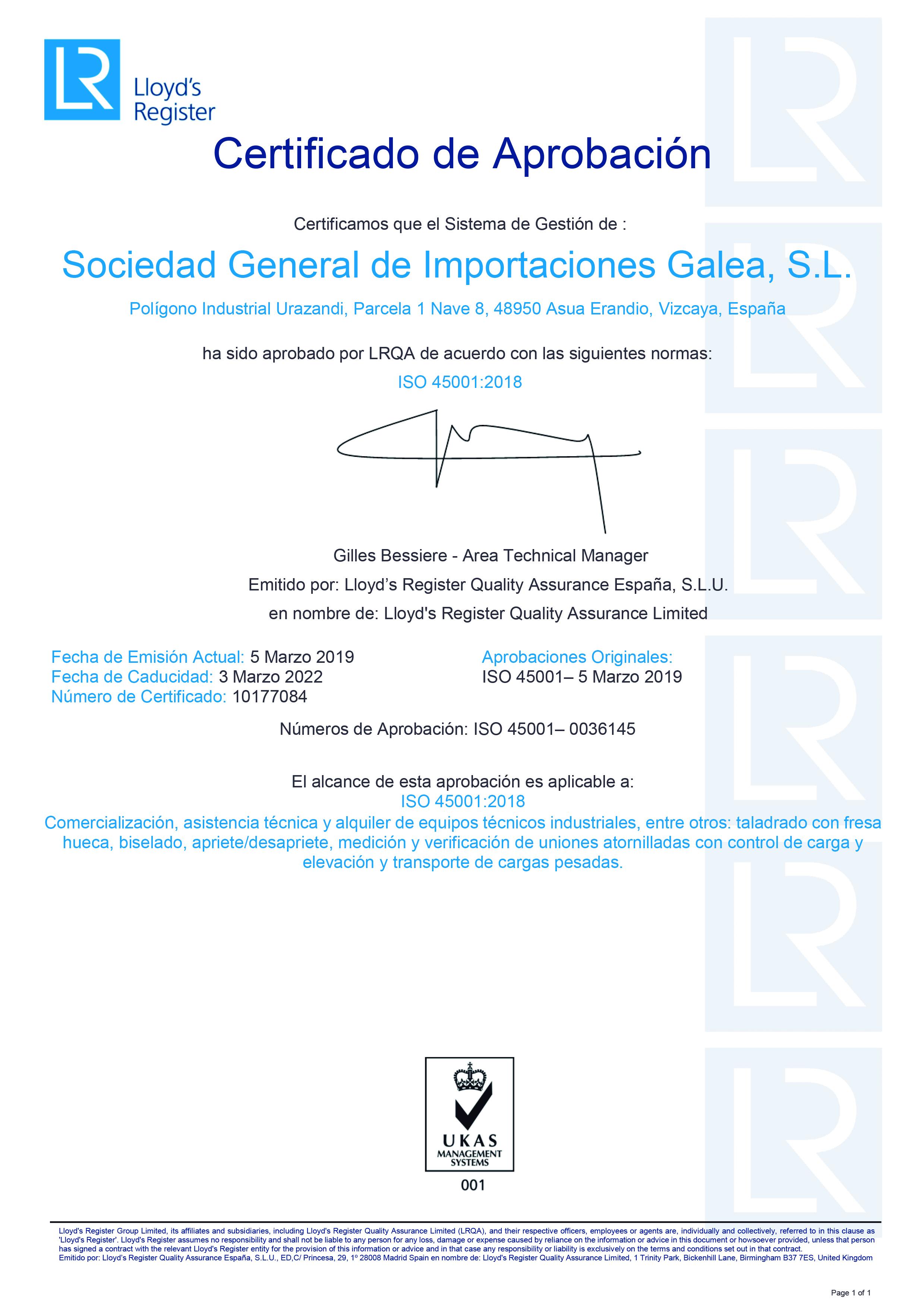 Certificado-Galea-ISO45001