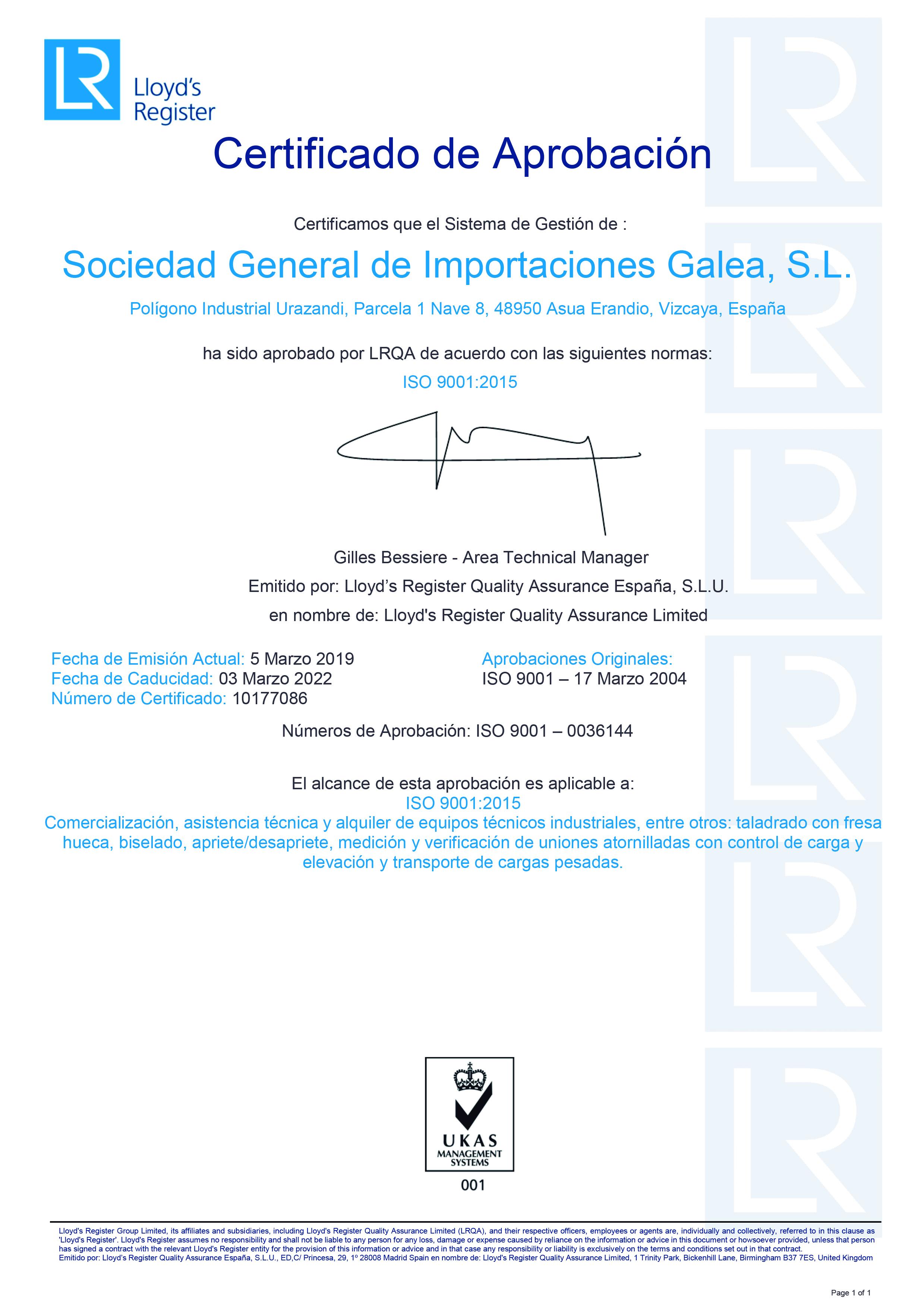 Certificado-Galea-ISO9001
